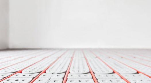 Foto der eingebauten Actifloor Fußbodenheizung