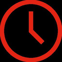 Icon einer Uhr, die für Zeit steht