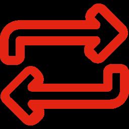 Icon von zwei Pfeilen, die für Wiederholung stehen