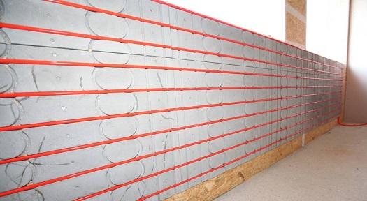 Foto einer Wandheizung von Actifloor im Trockenbau