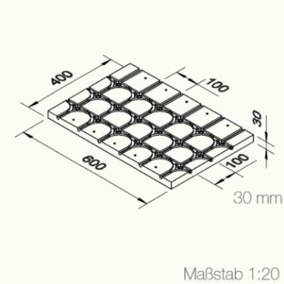 Grafik einer Anschluss- und Umkehrwärmeleitplatte