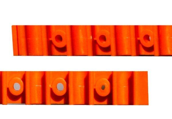 Foto einer Rohrklemmschiene
