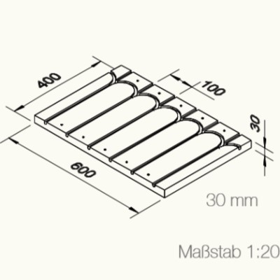 Grafik einer Wärmeleitplatte